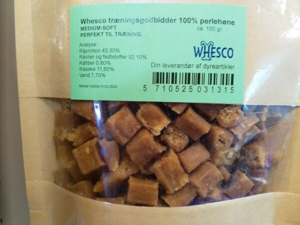 Whesco træningsgodbidder. Lækre naturlige godbidder / snacks til hunde og hvalpe. 100% tørret kød