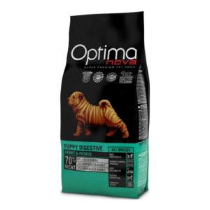 Optima Nova Kornfri Puppy Digestive med Kanin og kartoffel 12 kg