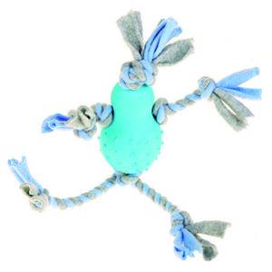 Fleecemand med gummikrop, blå