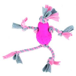 Fleecemand med gummikrop, pink