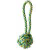 KW multifarvet bomuldsreb abehånd - bold med håndtag. hundelegetøj