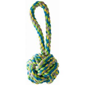 KW Multifarvet bomuldsreb med bold – 25 cm