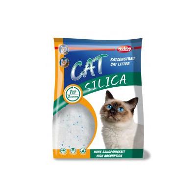 Nobby Cat Silica Litter 5 liter. Mineralsk krystalkattegrus. Silikat, Drøjt i brug. lugtabsorberende. indkapsler lugt.