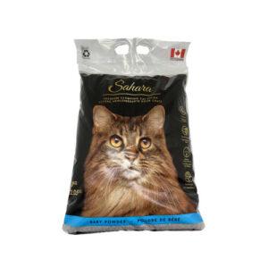Sahara – Klumpende kattegrus med baby pudder 10 kg