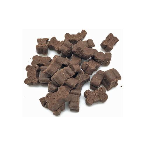Whesco kornfrie snacks formet som små kødben. med smag af vildt lækre godbiddder til hunde og hvalpe