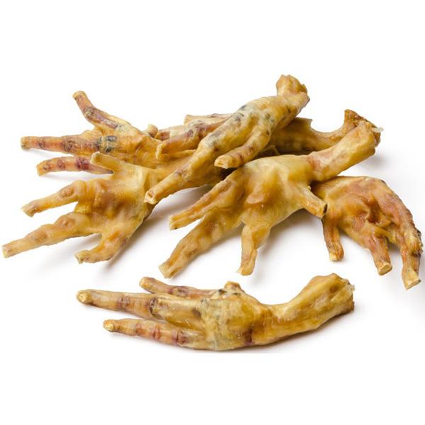 Whesco kyllingefødder naturel. naturlige snacks til hunde / tyggeting