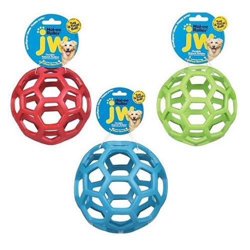 JW Hol-ee Roller netbold af naturgummi. Legetøj til hunde og hvalpe.