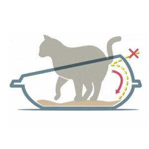 Shuttle kattebakke med høj kant, 57 cm