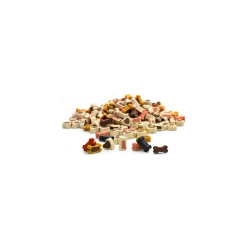 Whesco Lucky Snacks )er Mix. Lækre bløde hundesnacks. Blanding af små kødben og hjerter.