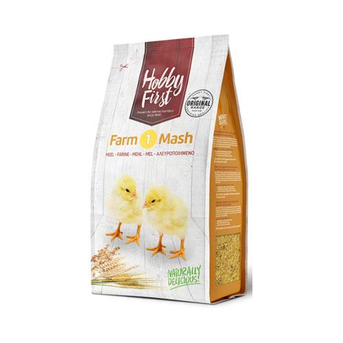 Hobby First Farm 1 Mash 4 kg. Lækkert kvalitets startfoder til kyllinger.